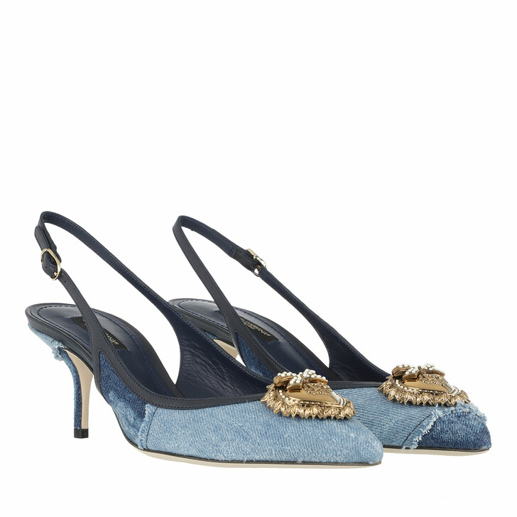 Schuh, Dolce&Gabbana, Slingback Pumps Denim