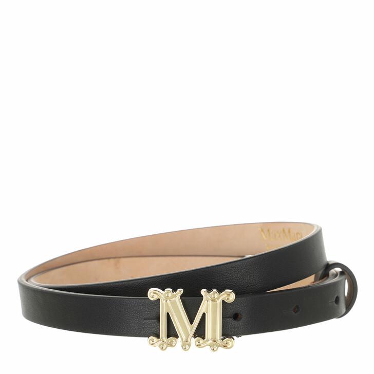 belts, Max Mara, Mvit Belt Black
