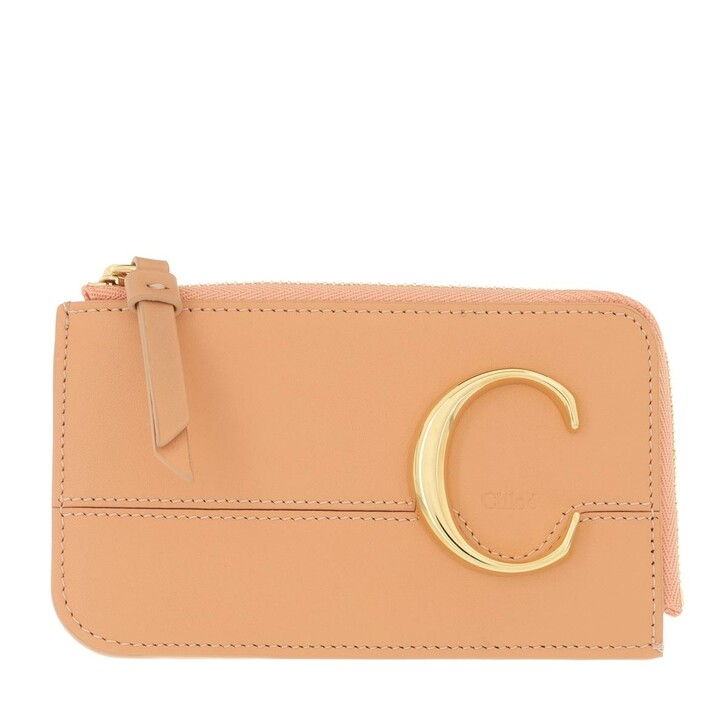 Geldbörse, Chloé, Compact Wallet Peach Bloom