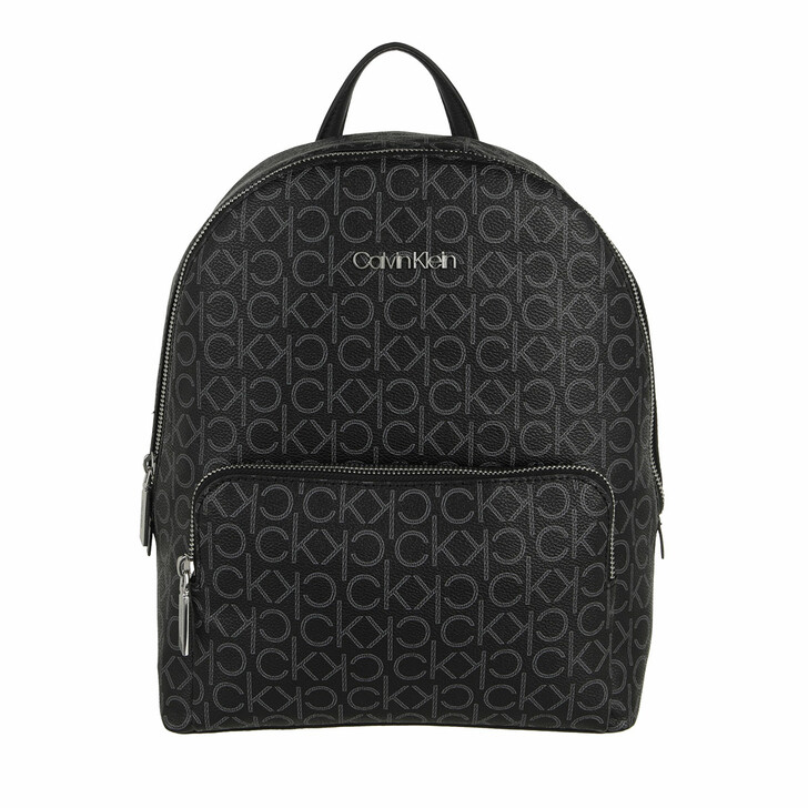 bags, Calvin Klein, CK Must Campus Backpack With Pckt Medium Mono Black Mono