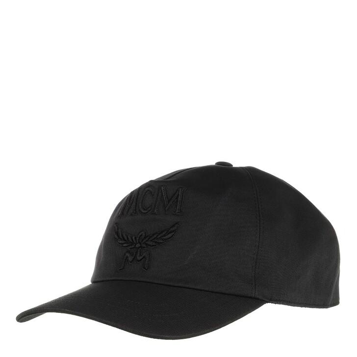 hats, MCM, Logo Cap Black