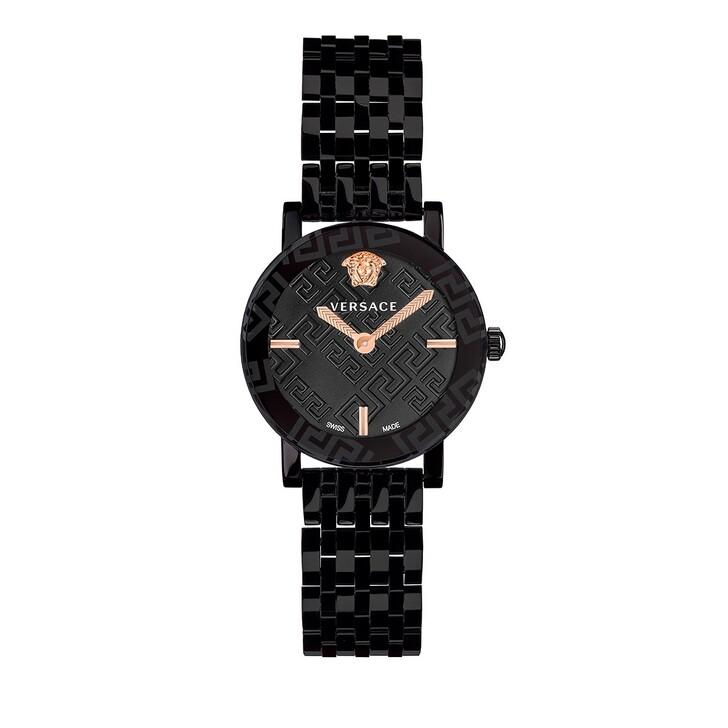 watches, Versace, GRECA GLASS Watch Black