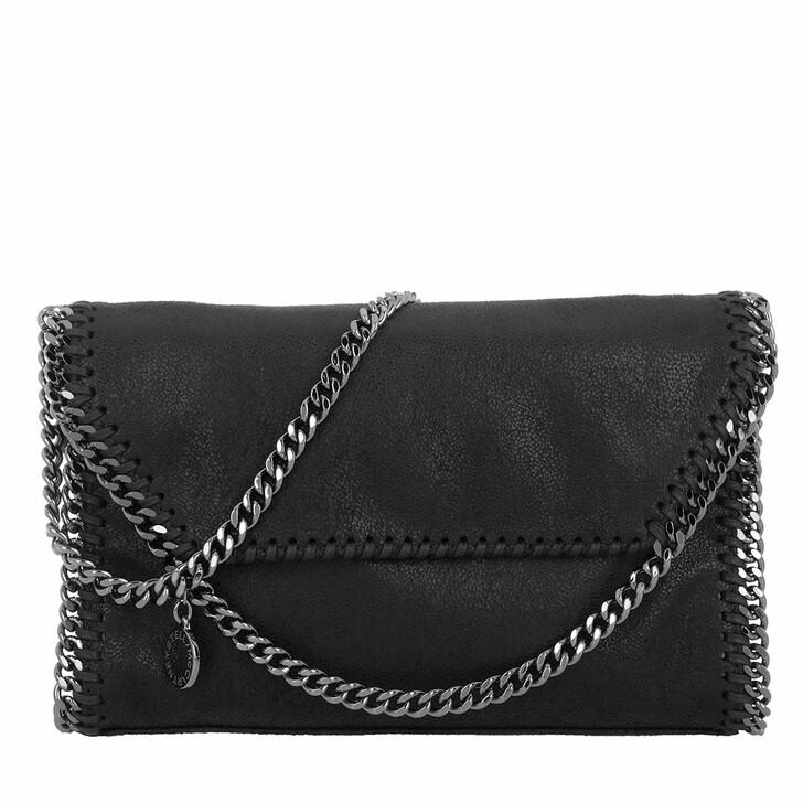 Handtasche, Stella McCartney, Falabella Shaggy Deer Mini Shoulder Bag Slate Grey