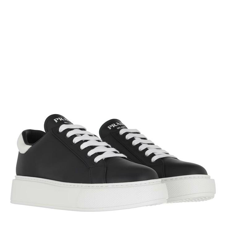 Schuh, Prada, Sneakers Leather Nero/Bianco