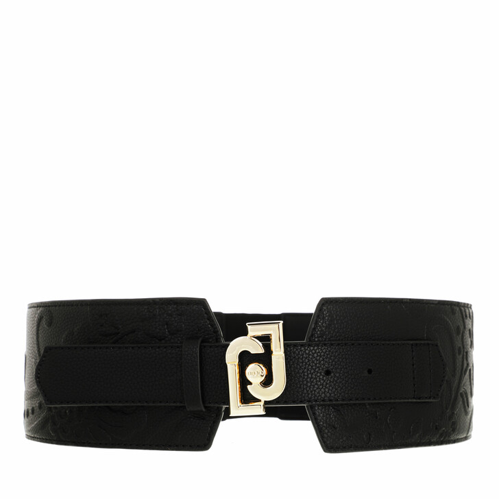 belts, LIU JO, Ecs Belt Bustino 8 Cm Black