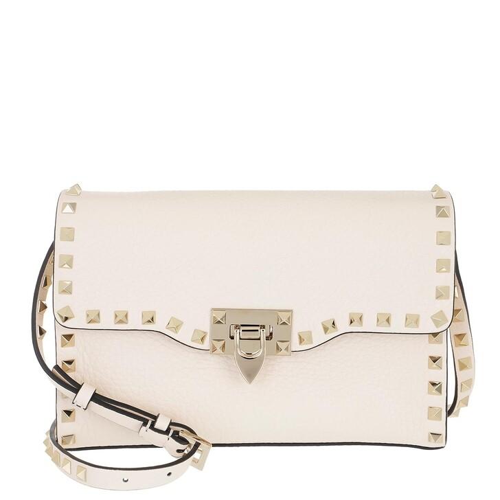 bags, Valentino Garavani, Rockstud Small Crossbody Bag Light Ivory