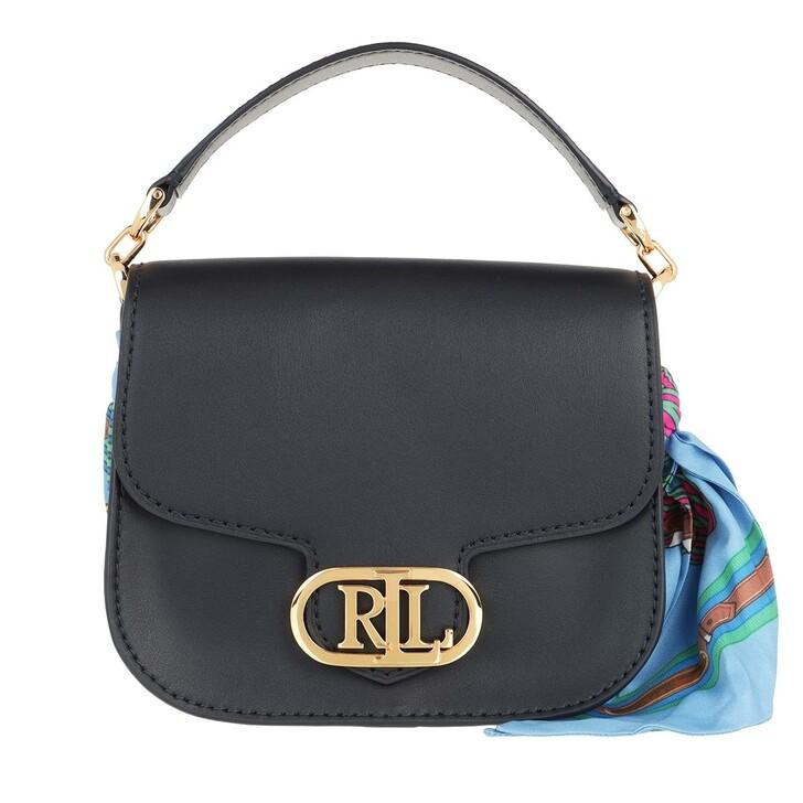 bags, Lauren Ralph Lauren, Addie 19 Crossbody Small Lrn Nvy/Eqst Blt Cbna Blue