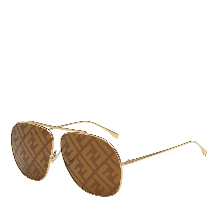 sunglasses, Fendi, FF 0405/S 01QEB Sunglasses Gold Brown