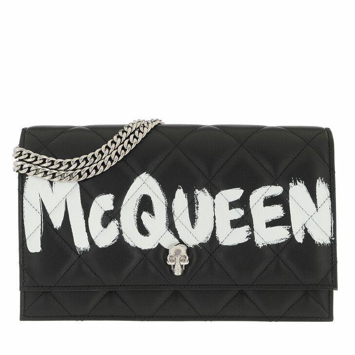 bags, Alexander McQueen, Skull Medium Crossbody Bag Black Ivory