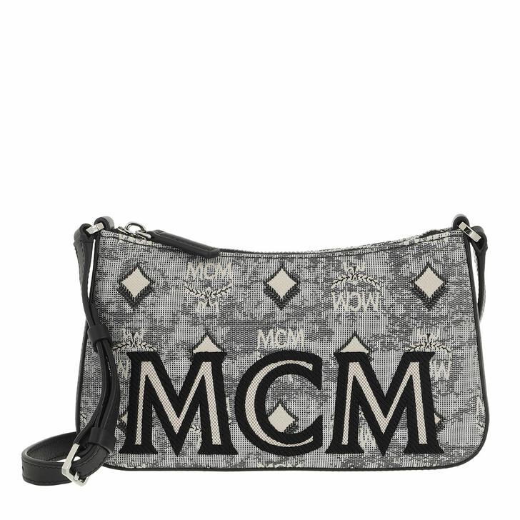 bags, MCM, Visetos Jacquard Shoulder Mini Eg Grey