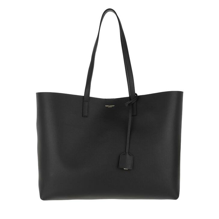 Handtasche, Saint Laurent, East West Medium Tote Leather Black