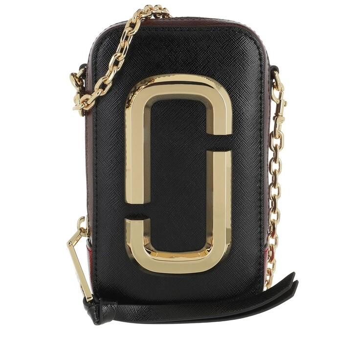 bags, Marc Jacobs, The Hot Shot Shoulder Bag Leather Black/Red