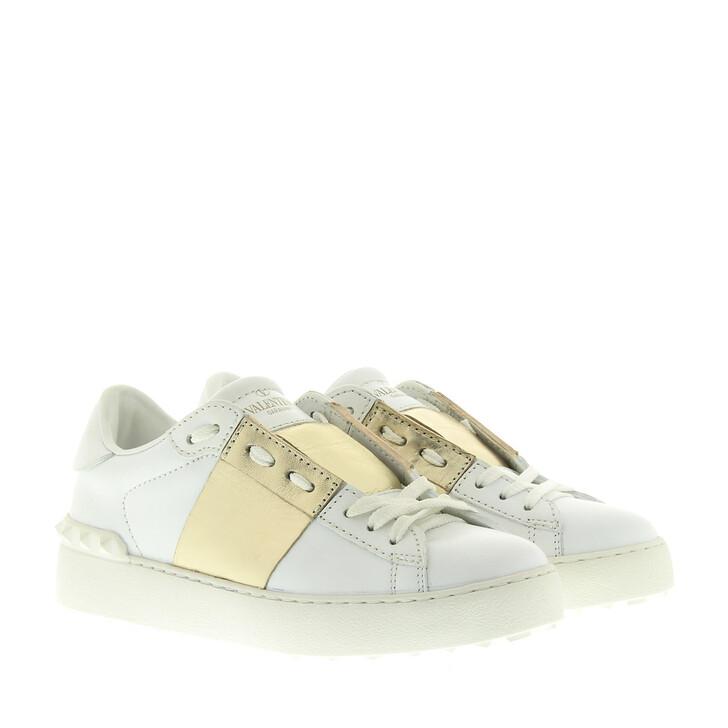 Schuh, Valentino, Rockstud Sneaker White/Gold