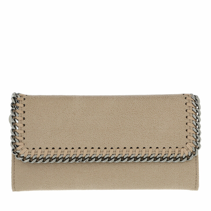 Geldbörse, Stella McCartney, Continental Flap Wallet Clotted Cream