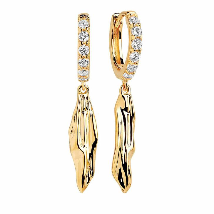 earrings, Sif Jakobs Jewellery, Vulcanello Lungo Earrings 18K Yellow Gold Plated