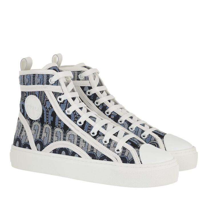 shoes, Furla, Furla Binding High Top Sneaker T.20 Toni Blu Denim+Talco H