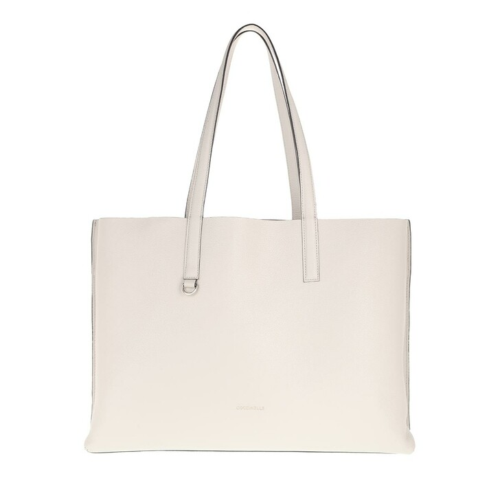 Handtasche, Coccinelle, Martinee Shopper Lambskin White/Power Pink