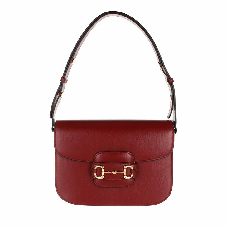 Handtasche, Gucci, 1955 Horsebit Shoulder Bag Leather New Cherry Red