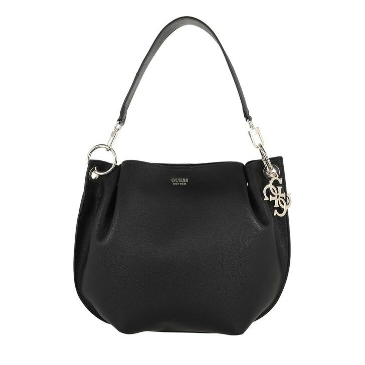 Handtasche, Guess, Digital Hobo Bag Black