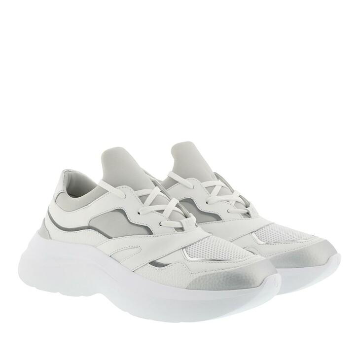 Schuh, Karl Lagerfeld, SKYLINE Delta Lo Lace Mix White Lthr & Textile w/Silver