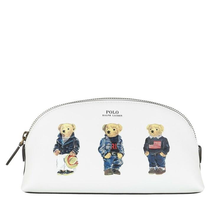 Necessaire, Polo Ralph Lauren, Cosmetic Bag Case Small White Multi