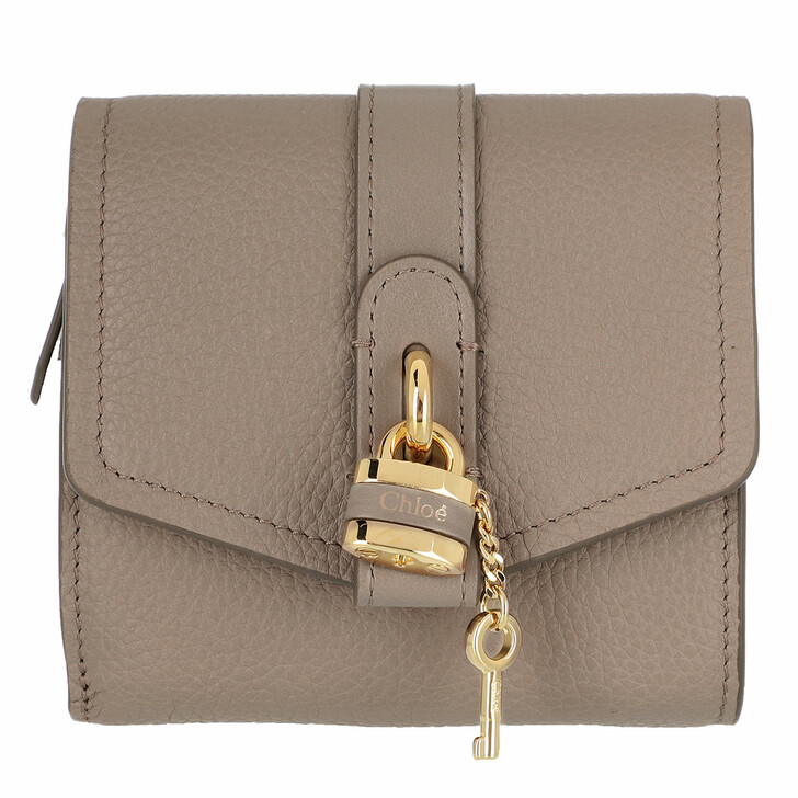 Geldbörse, Chloé, Small Wallet Motty Grey