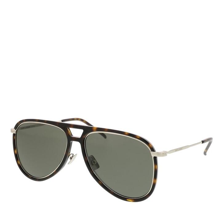 Sonnenbrille, Saint Laurent, CLASSIC 11 RIM Sunglass UNISEX INJECTION HAVANA-SILVER-GREY