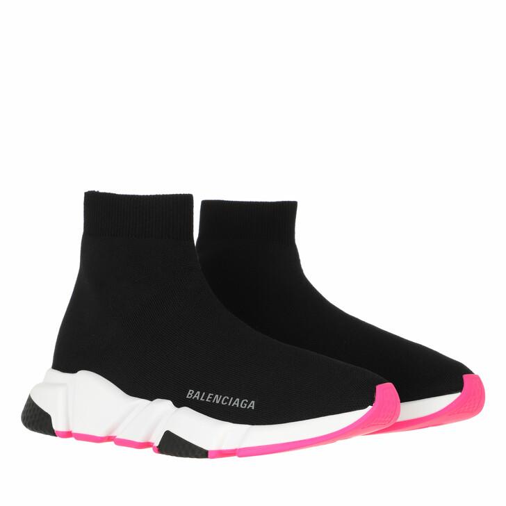 shoes, Balenciaga, Light Speed Sneakers Black White Pink