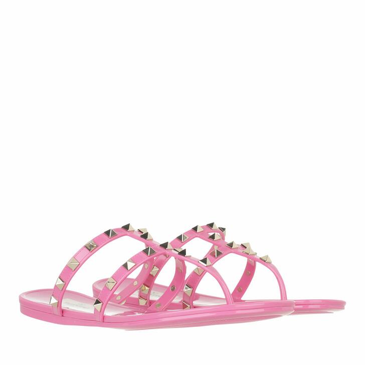 shoes, Valentino Garavani, Rockstud Thong Sandals Dawn Pink