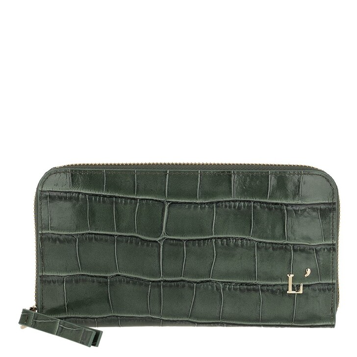 Geldbörse, L´Autre Chose, Printed Zip Around Wallet Sage Green