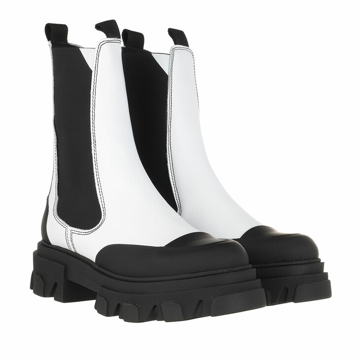 Schuh, GANNI, Mid Chelsea Boots Calf Leather Egret