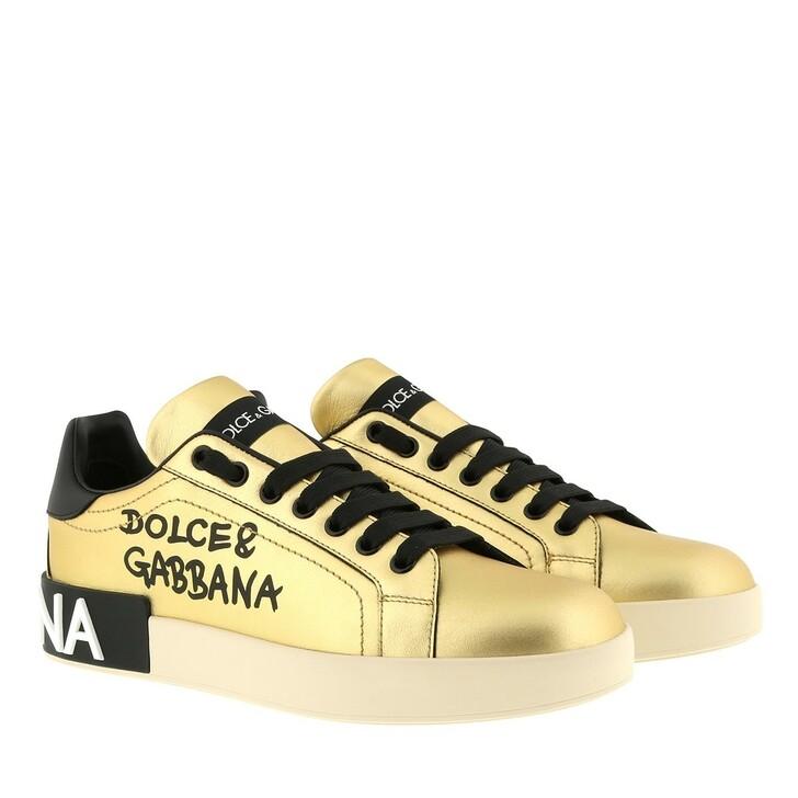 Schuh, Dolce&Gabbana, Portofino Sneakers Gold