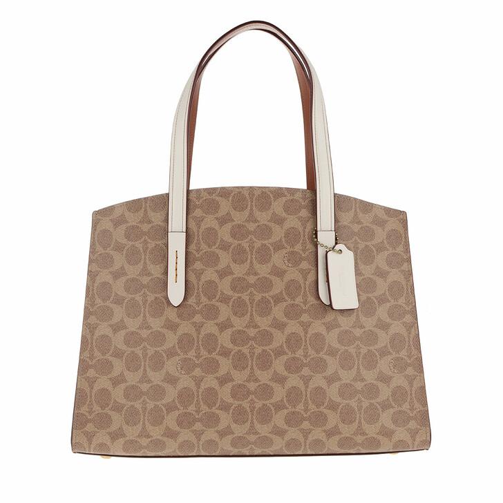 Handtasche, Coach, Signature Charlie Caryall Travel Bag White