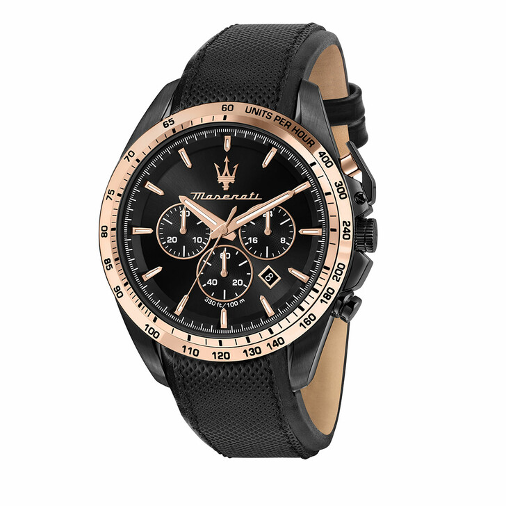 watches, Maserati, Watch Traguardo 45mm Chr Black