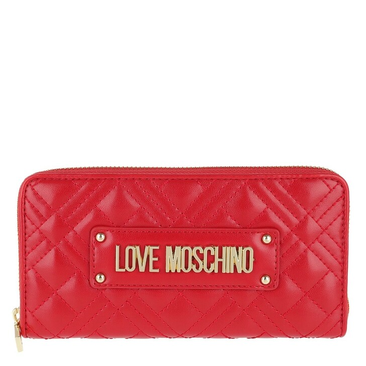 wallets, Love Moschino, Wallet Quilted Nappa   Rosso
