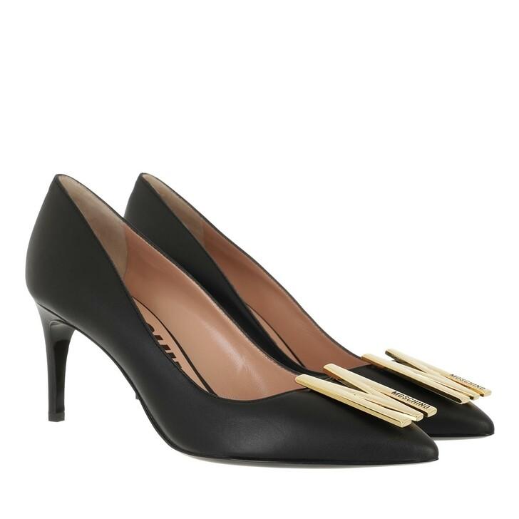 shoes, Moschino, Scarpad Re Mh64/75 Vitello  Nero