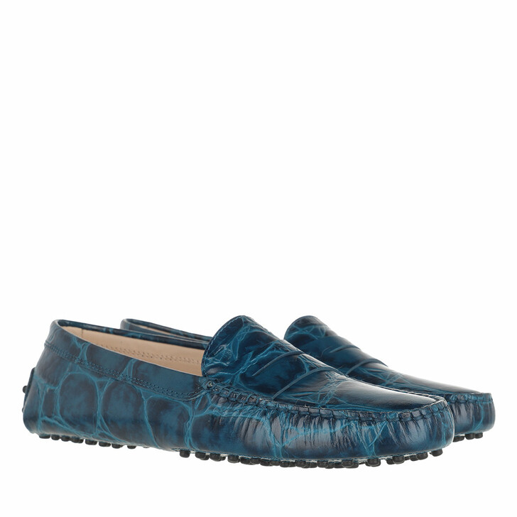 Schuh, Tod's, Gommino Moccasin Patent Leather Blue