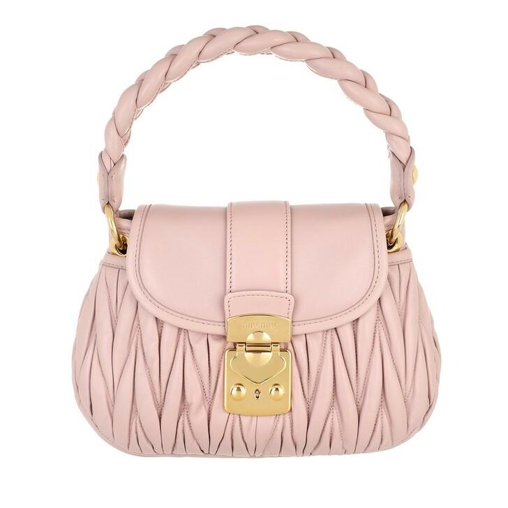 bags, Miu Miu, Coffer Shoulder Bag Matelasse Leather Opale