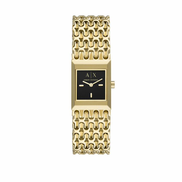 Uhr, Armani Exchange, Ladies Two-Hand Stainless Steel Watch Gold