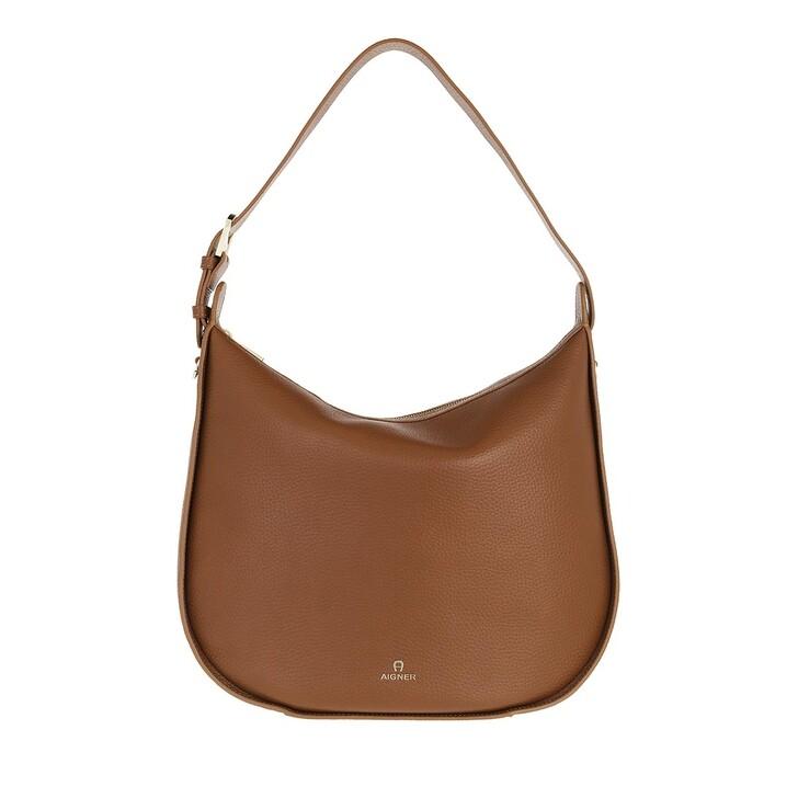 bags, AIGNER, Ivy Hobo Bag Dark Toffee Brown