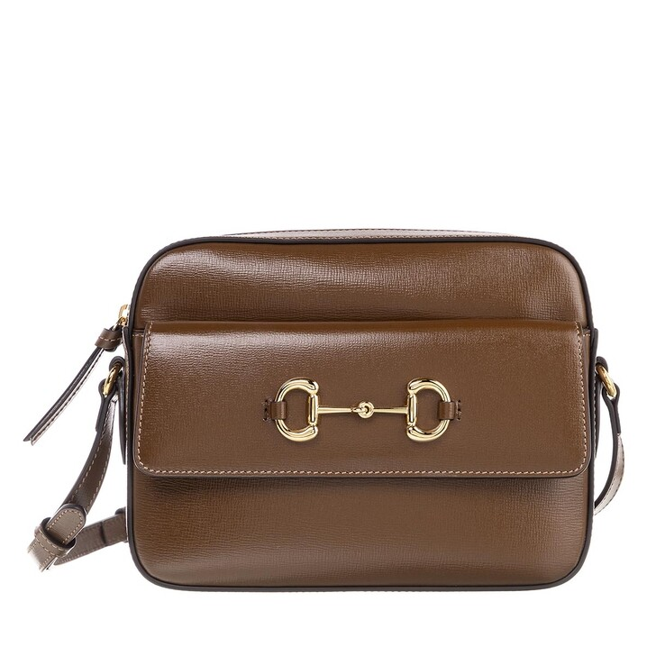 Handtasche, Gucci, Horsebit 1955 Small Shoulder Bag Leather Brown Sugar