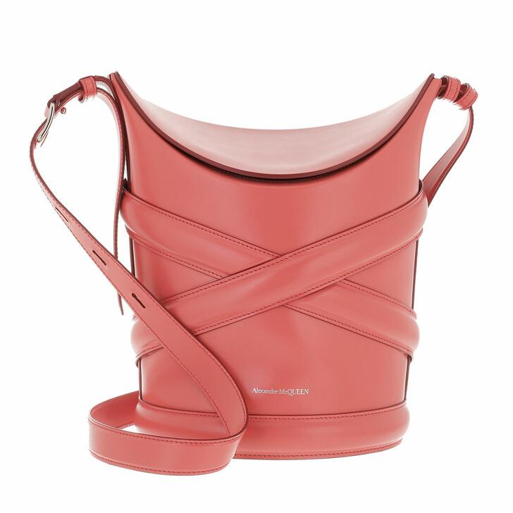 bags, Alexander McQueen, Handbag Leather Bright Pink