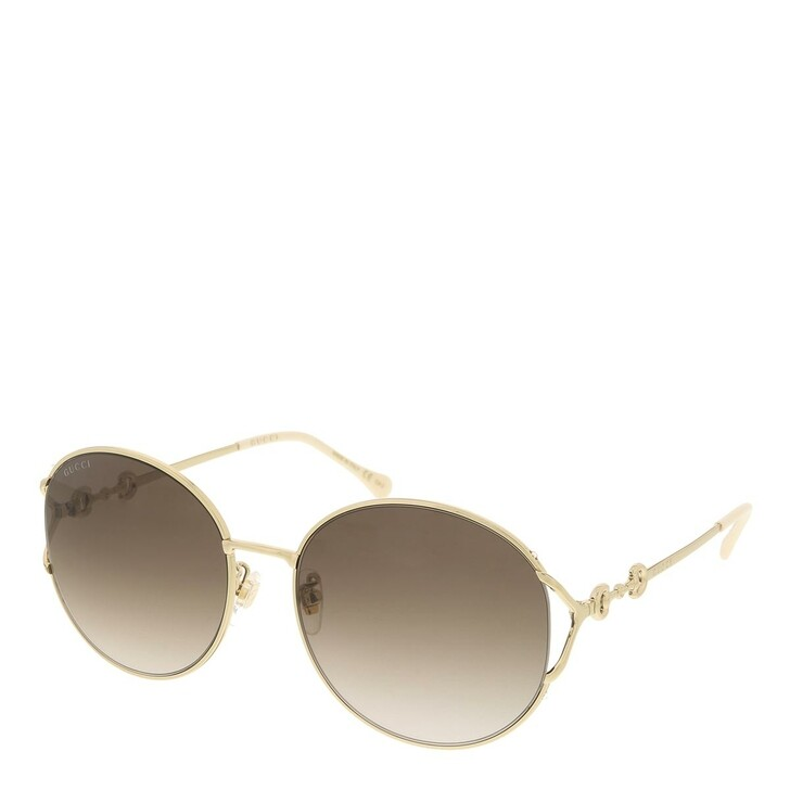 sunglasses, Gucci, GG1017SK-003 58 Sunglass Woman Metal Gold-Gold-Brown