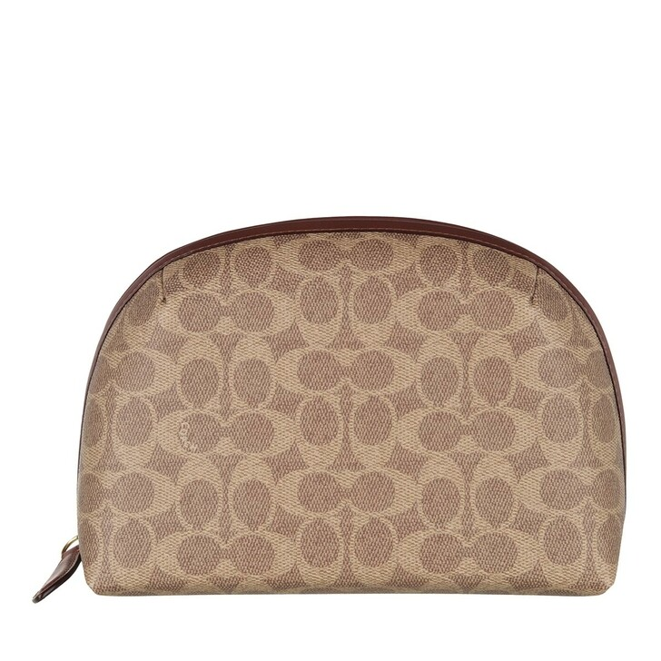 Necessaire, Coach, Coated Canvas Signature Julienne Cosmetic Case 22 B4/Tan Rust