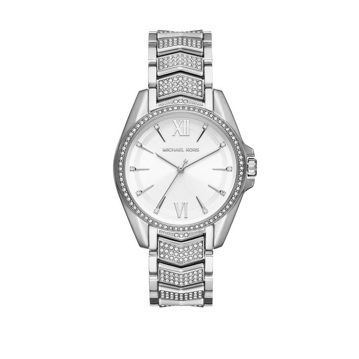 Uhr, Michael Kors, Women's Whitney Three-Hand Stainless Steel Watch Silver