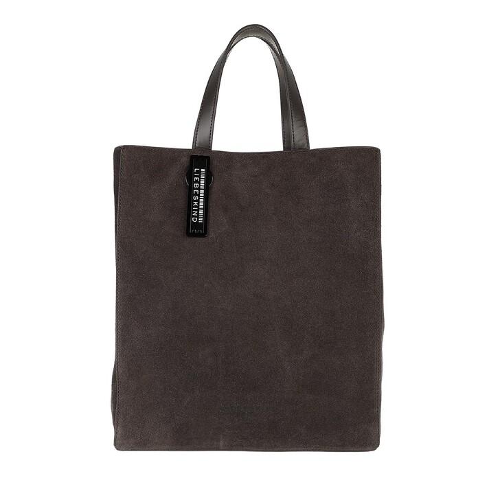 bags, Liebeskind Berlin, Paper Bag Suede Paper Bag M Dark Chocolate