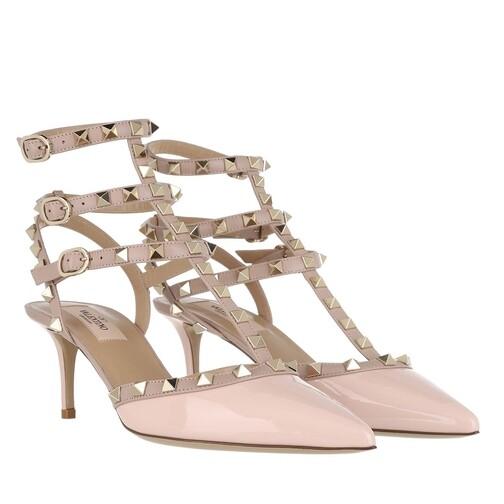 valentino garavani -  Pumps & High Heels - Rockstud Decollete Pump Ankle Strap - in rosa - für Damen