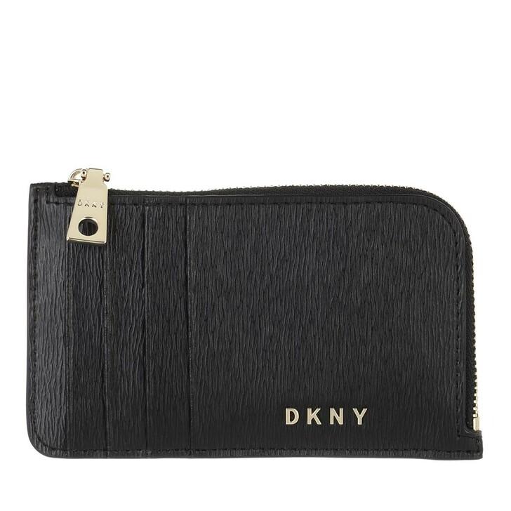 Geldbörse, DKNY, Bryant Zip Card Hold Black Gold