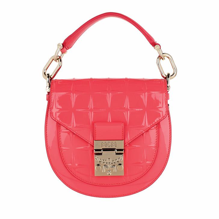 bags, MCM, Patricia Diamond Patent Shoulder  Tea Berry