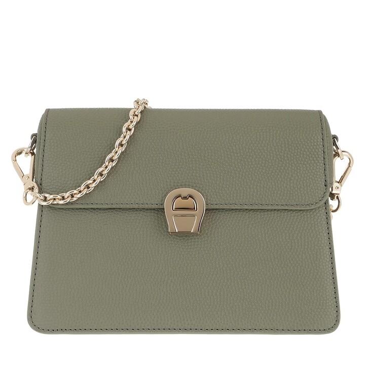 Handtasche, AIGNER, Genoveva Handle Bag Moss Green
